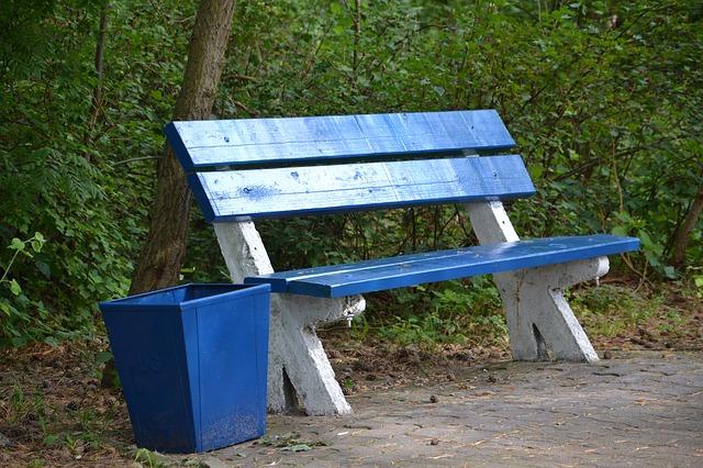 Kosze parkowe i problem z czystością parku