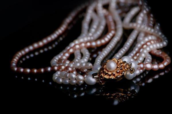 biżuteria - perły kolorowe